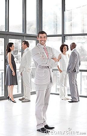 Business leader showing leadership and team Spirit