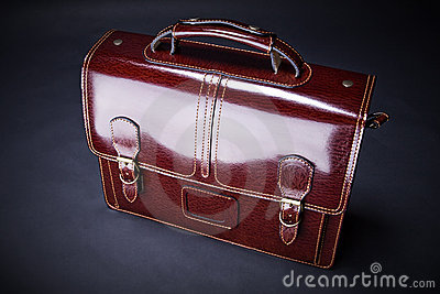 Business leather suitcase