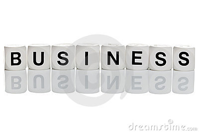 Business in letter blocks