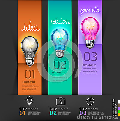 Business lightbulb concept steps thinking Idea