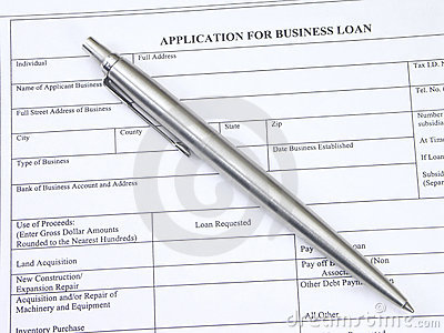 Application for business loan
