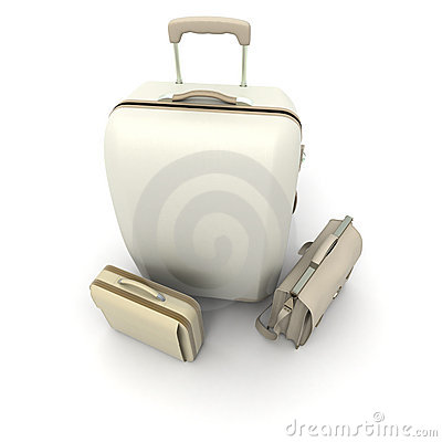 Business luggage in beige