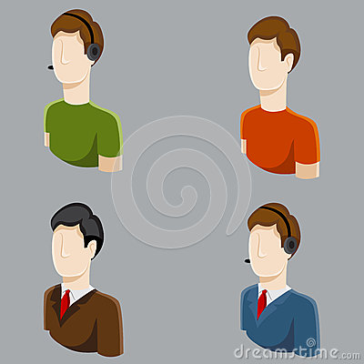 Business Male Profile Icons