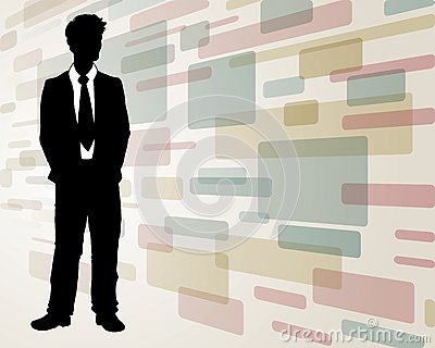 Business man on Abstract Background