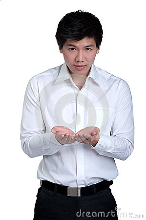 Business man Attractive smart hold isolated