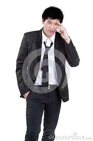 Business man Attractive  smart suit