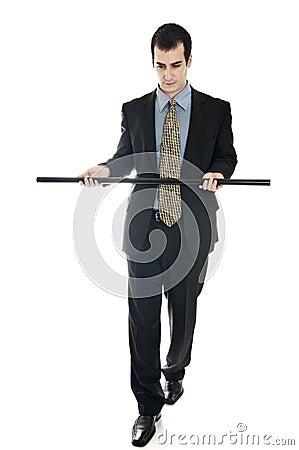 Business man and balance
