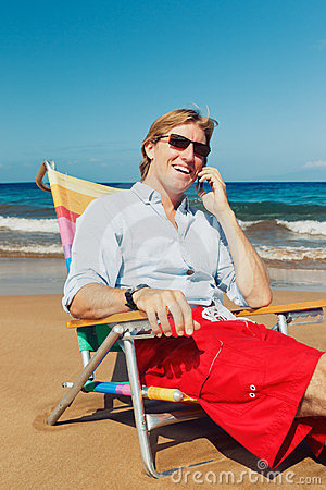 Business Man on the Beach