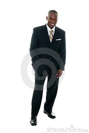 Business man in black suit 2 royalty free stock images image