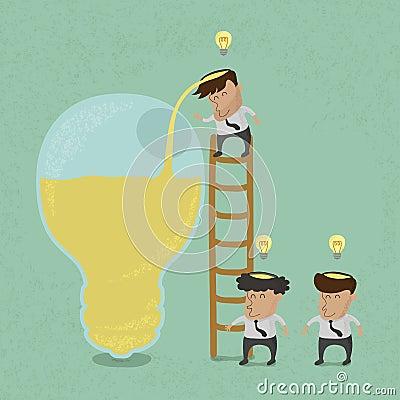 Business man brainstorming , Make Idea