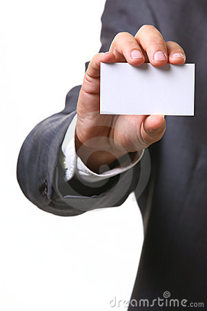 Free Business Man Card Royalty Free Stock Photo - 3680145
