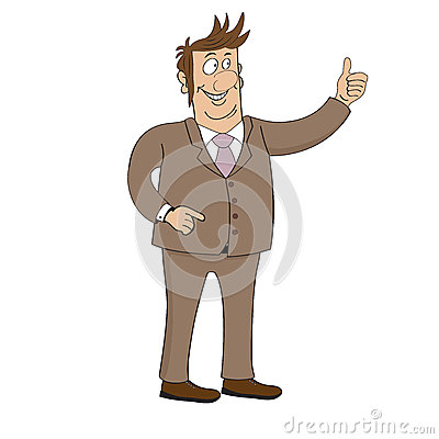 Business man character isolated on white background