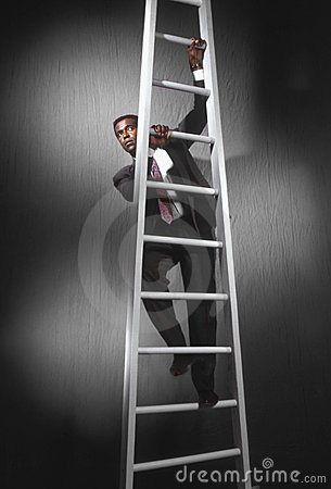 Business man climbing ladder_3