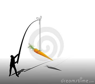Business Man Dangling Carrot