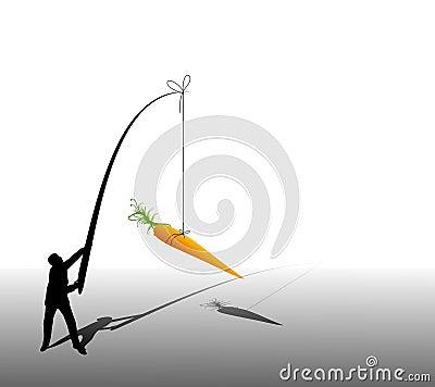 Business Man Dangling Carrot