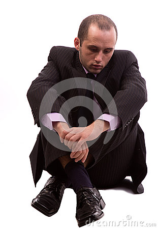 Business man depressed