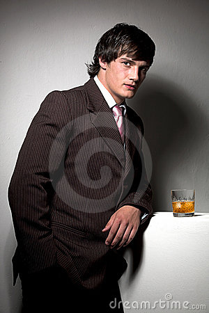 Business man with drink