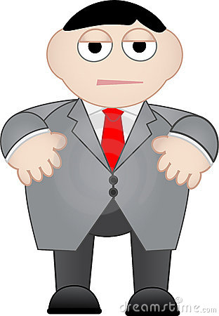 Business Man Dull and Unhappy