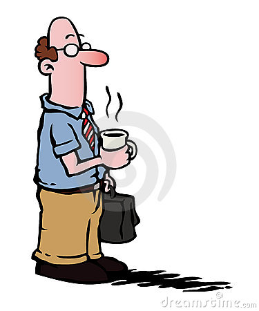 Business man / employee having coffee