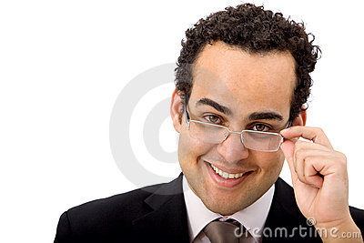 Business man with eyeglasses