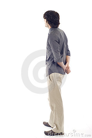 Free Business Man From The Back Looking Stock Photography - 12515642