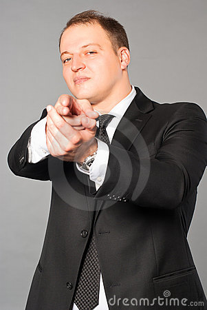 Business man - Hand Gun Stick Up