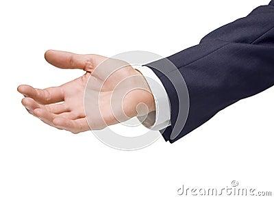 Business Man Hand Handout
