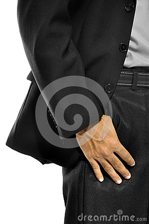 Business Man With Hand In Pocket