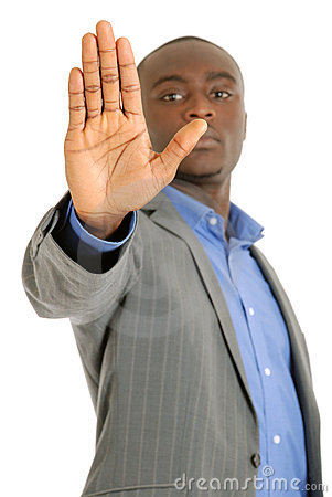 Business Man Hand Stop Sign Stock Photo - Image: 14680650