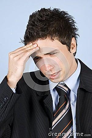 Business man having headache