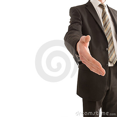 Free Business Man Holding Out His Hand With Copy Space Royalty Free Stock Images - 7315899