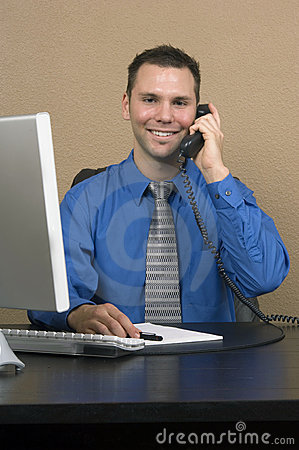 Free Business Man In His Office Stock Image - 543511