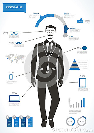 Business man infographic
