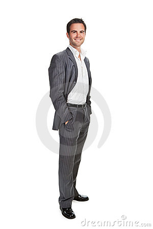 Free Business Man Isolated Over White Background Royalty Free Stock Photography - 12727987