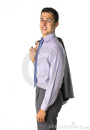 Business man with jacket