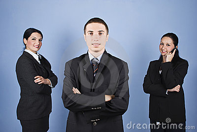 Business man leader