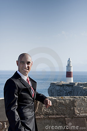 Business Man & Lighthouse