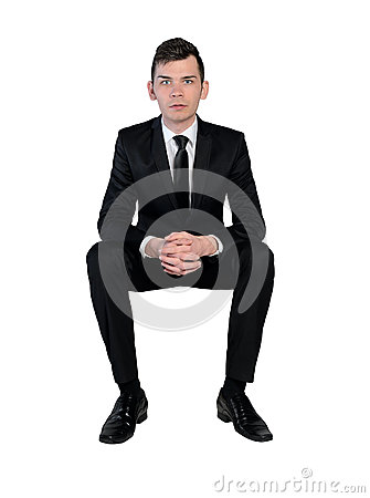 Free Business Man Looking Camera Royalty Free Stock Photos - 55936878