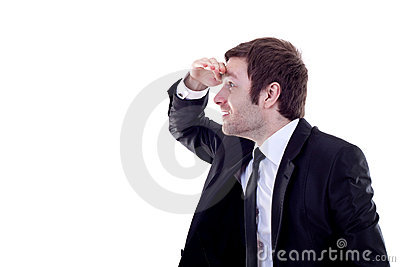 Business Man Looking Forward Royalty Free Stock Photos - Image: 15590108