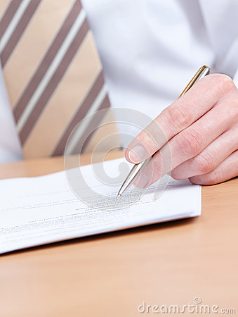 Business Man Making Notes In The Notebook Royalty Free Stock Photo - Image: 26983575
