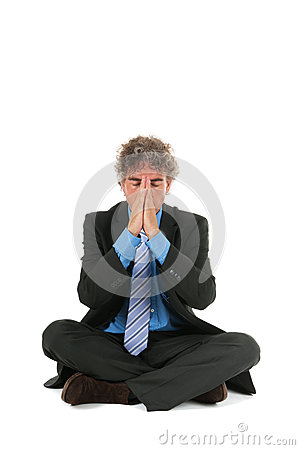 Business man in meditation