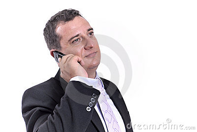 Business man with a mobile phone