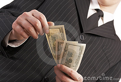 Business man with money in his hand