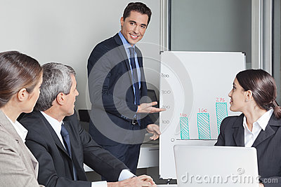 Business man in a office