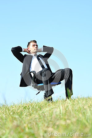 Free Business Man On Chair Stock Photo - 25801690