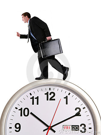 Free Business Man On Clock Stock Photo - 2421800