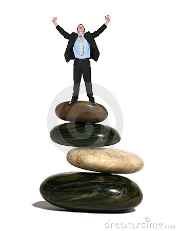 Free Business Man On Rocks Stock Photo - 2405310