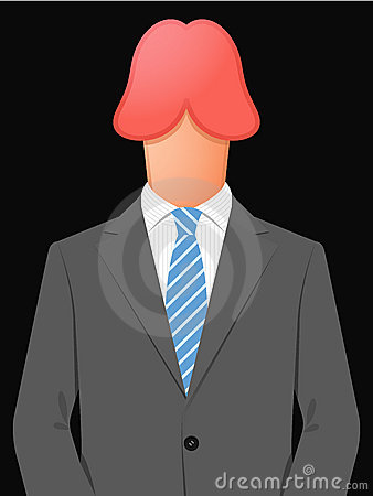 Business man with penis head