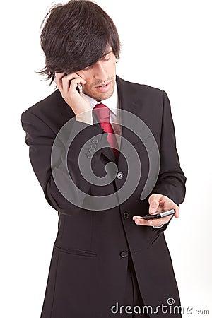 Business man at phone
