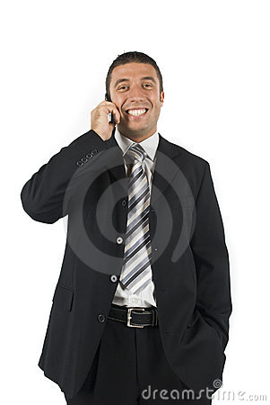 Business man on the phone